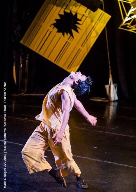 Jasmin Vardimon Company - Maria Doulgeri, JV2 2012 graduate performs Pinocchio. Photo: Tristram Kenton